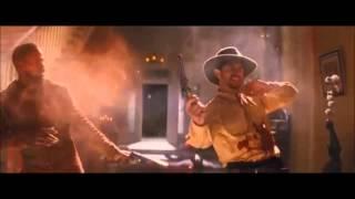 Скачать Django Unchained Shooting 2Pac James Brown Tribute Scene SPOILER