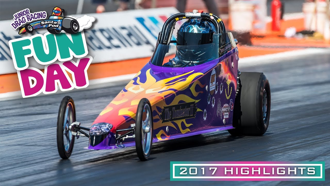 Junior Drag Racing Fun Day 2017 At Santa Pod Raceway Youtube