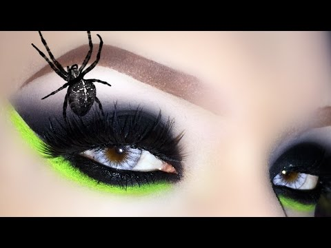 Sexy Witch / Black Widow - Halloween Makeup Tutorial + How To Whitening Teeth withy WhiteWithStyle
