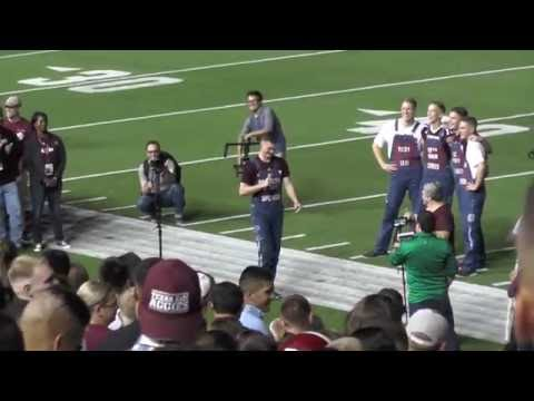 Texas Aggie Midnight Yell Practice - Kyle Field for 2016 Tennessee Game