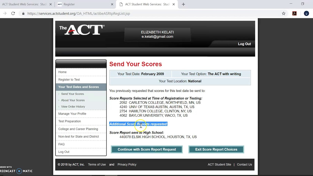 Act Scores For Colleges >> How To Send Act Scores To Colleges