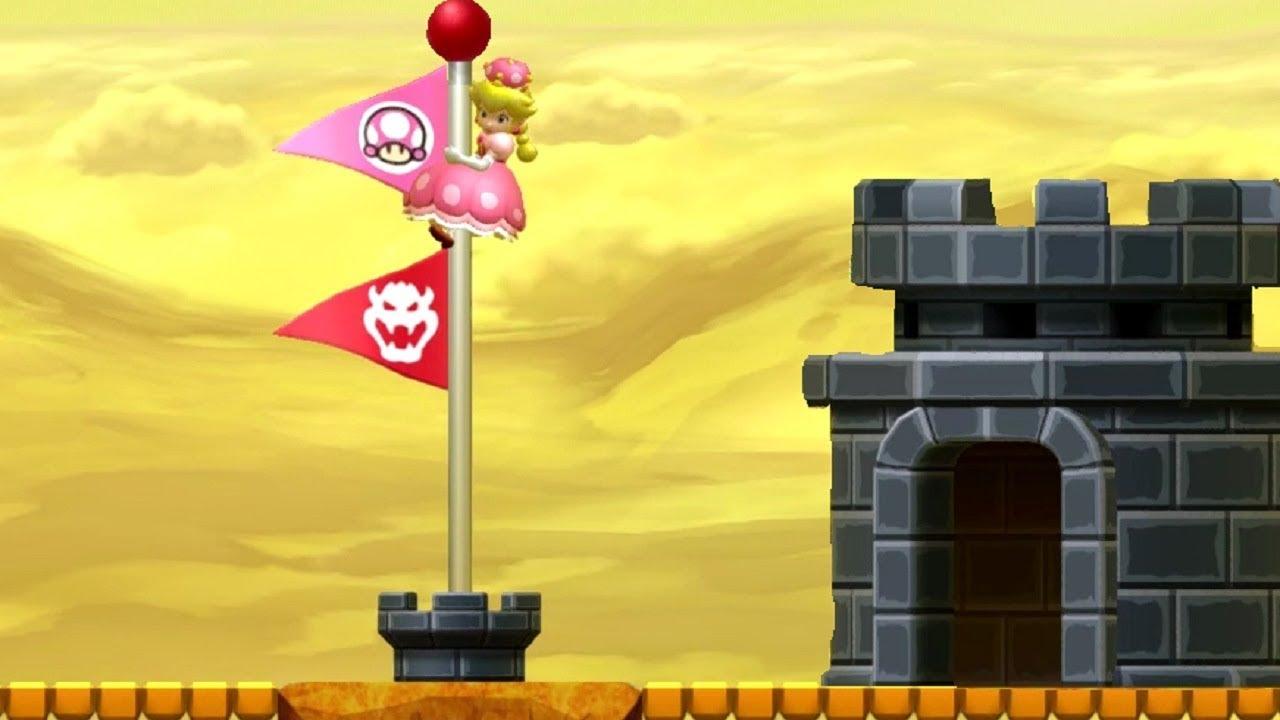New Super Mario Bros U Deluxe All Secret Exits With Peachette