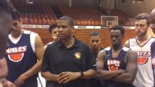 Coach Eric Cooper Speaking to Pepperdine Team
