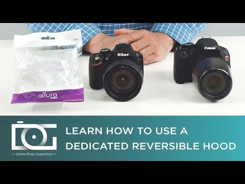 How to Attach and Detach A Reversible Dedicated Lens Hood for NIKON and CANON Cameras   Tutorial