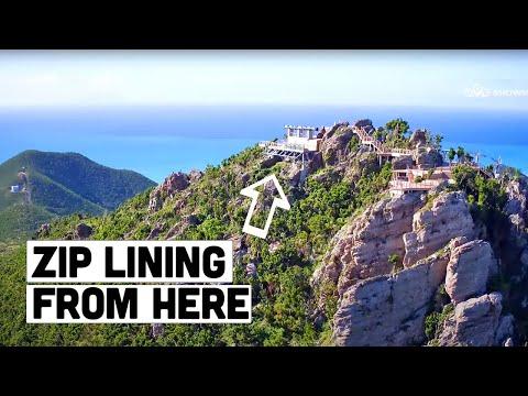 Rainforest Adventures - Steepest Zip line of the world -  St Maarten