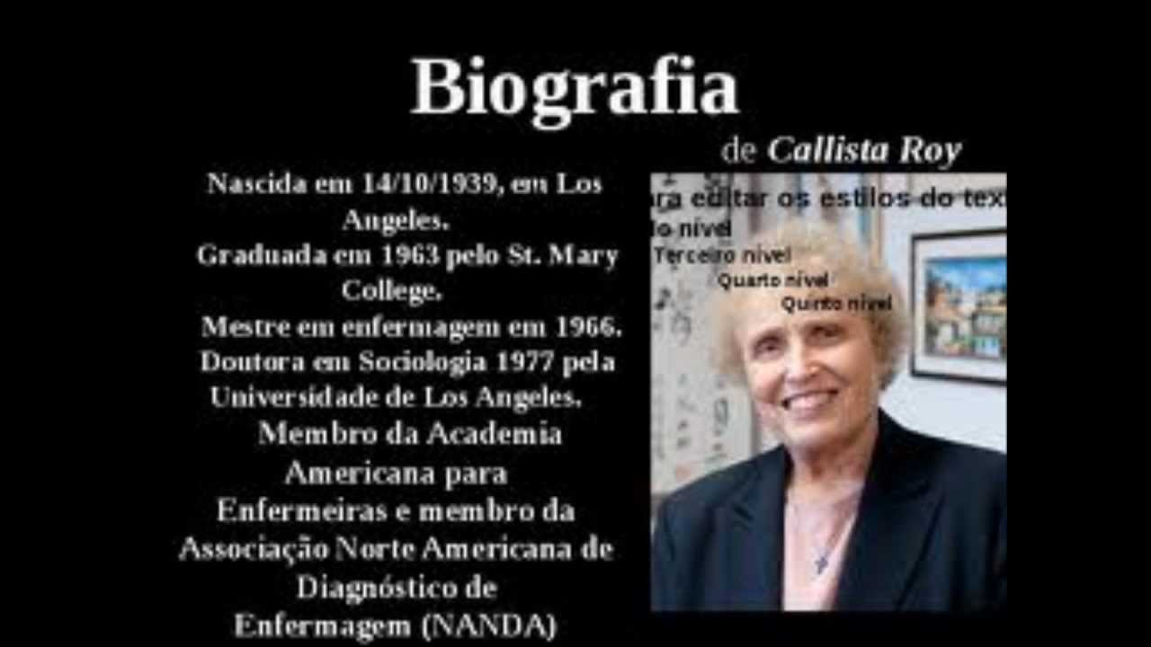 callista roy 1 Nursing theory from the perspective of a nurse theorist powered by panopto  nurs741501 [roy] (roy adaptation model presentation 2015) play 00:00.