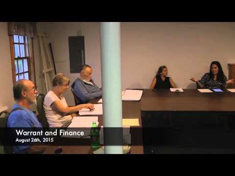 Warrant and Finance - 08-26-2015