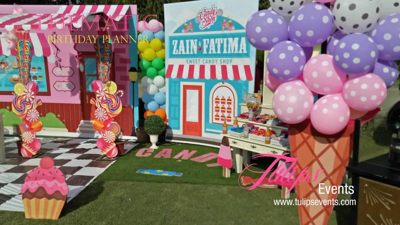 candylicious theme outdoor party decor ideas in Pakistan YouTube