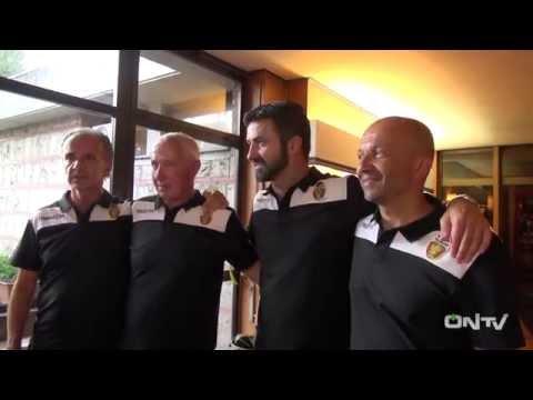 ONTV: immagini dell'arrivo di Fabrizio Larini al Garden e dello staff tecnico