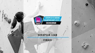 The finals of the Lead event at the European Climbing Championships...
