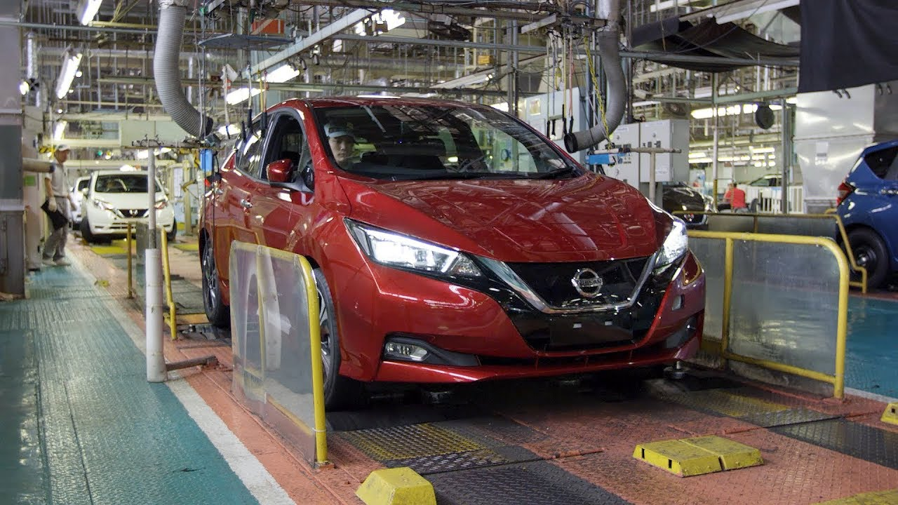 2018 Nissan Leaf Production At The Oppama Plant An
