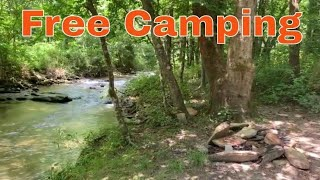 Free Camping in Noŗth Carolina at the Basin Creek Camping Area