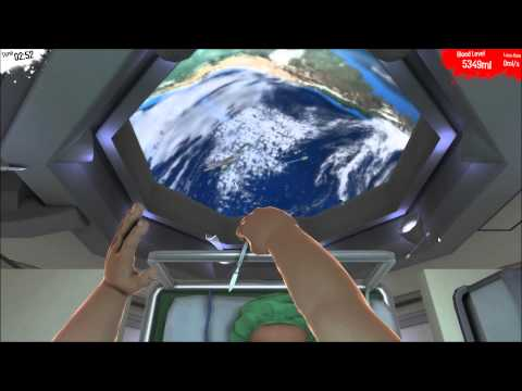 SURGEON SIMULATOR 2013 - Heart Transplant in SPAAACE w/ Razer Hydra