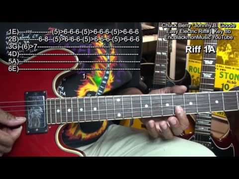 How To Play Chuck Berry Johnny B Goode 1 Easy Electric Guitar Riffs1 EricBlackmonGuitar