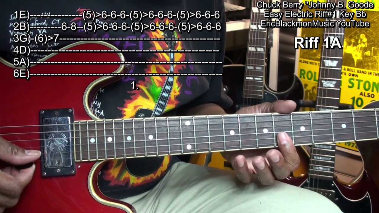 How To Play Chuck Berry Johnny B Goode 1 Easy Electric Guitar Riffs