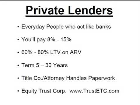 Private Lenders - Funding Real Estate With Private Lenders