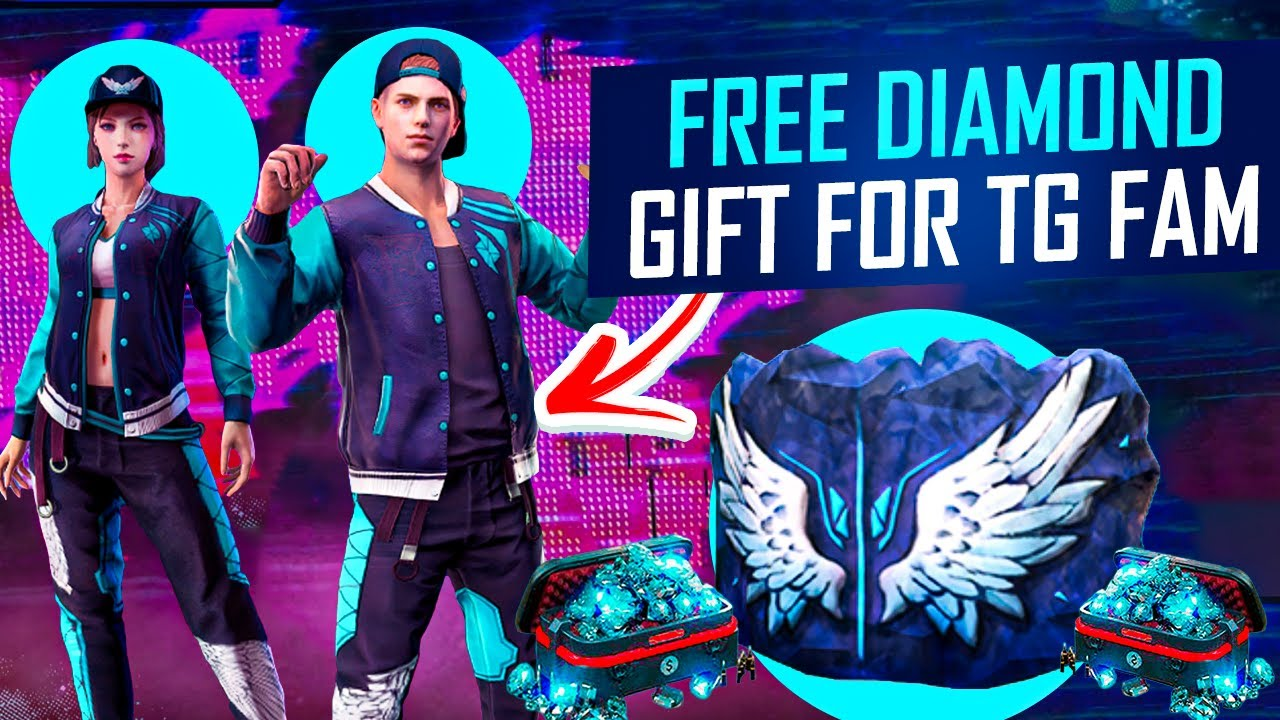 Free Fire Free Diamonds Gift for TG Fans, Angelic Dress Gameplay - Garena Free Fire- Total Gaming