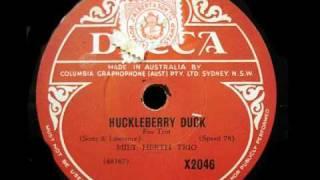 78rpm Restoration - Milt Herth Trio - Huckleberry Duck