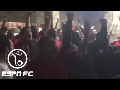 Mohamed Salah scores for Liverpool vs. Roma in Champions League, and fans in Cairo go wild | ESPN FC