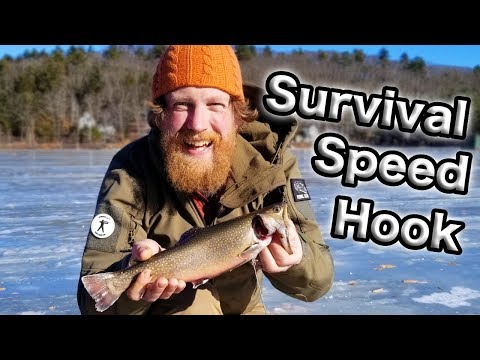 Ice Fishing With The Military Speedhook Survival Trapping Kit (87 days ep. 21)