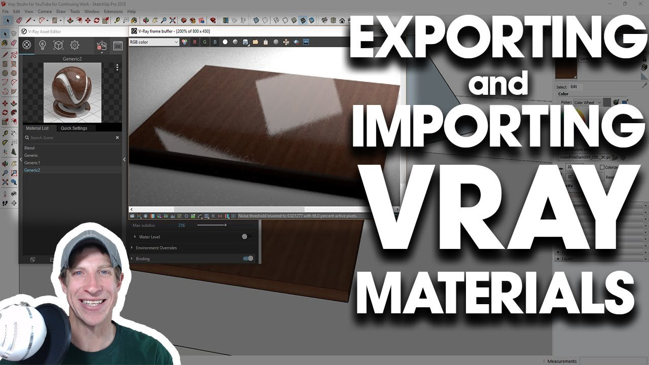 IMPORTING AND EXPORTING Materials in Vray for SketchUp