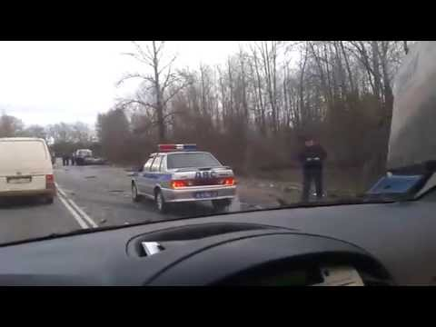 Жуткая авария на трассе Кингисепп - Санкт-Петербург со