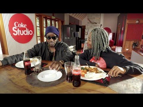 Efya teaches Uganda's Eddy Kenzo how to eat Ghanaian Fufu