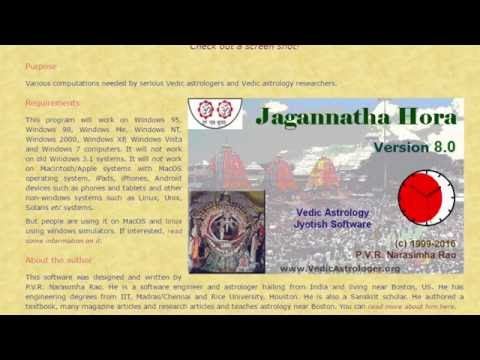 How to download Jagannatha Hora Astrology Software?