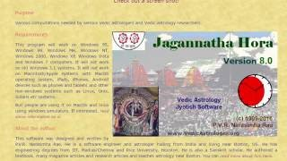 how to download jagannatha hora astrology software
