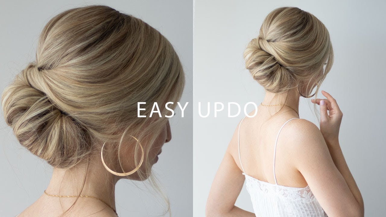 How To Easy Updo For Short Hair Perfect Wedding Hair Prom Formal Youtube
