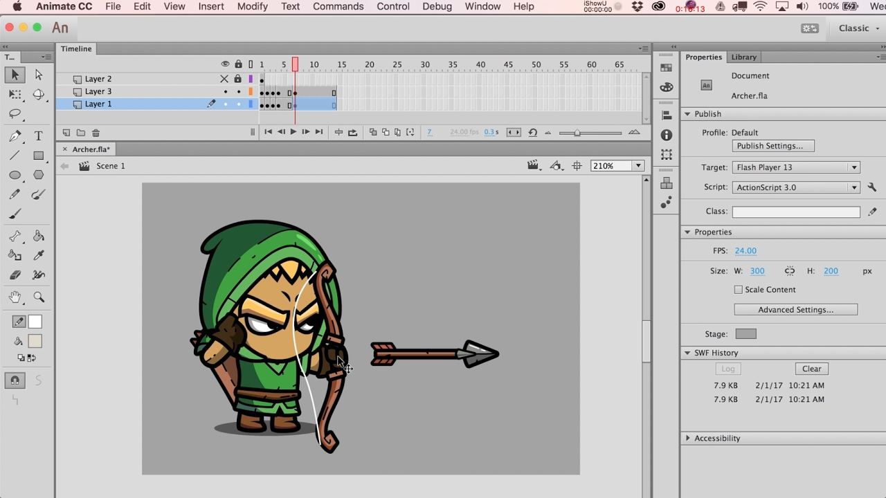 How To Animate An Archer Character In Adobe Animate  Basics Tips For Frame  By Frame Animation