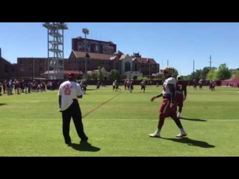 Ryan Green - kick return in FSU practice