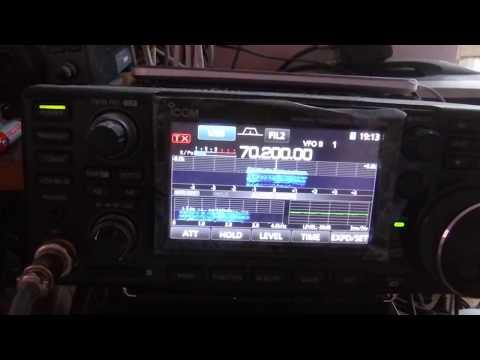 Long range contact on 4m band