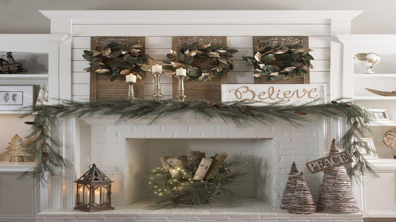 2018 Winter Fireplace Mantel Decoration Ideas 4 Youtube