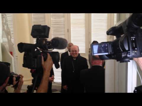 NYS leaders greet Cardinal Jaime Lucas Ortega y Alamina