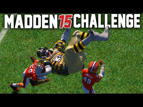 Madden NFL 15 Challenge - Can A Giant Player Hurdle A Tiny Player?