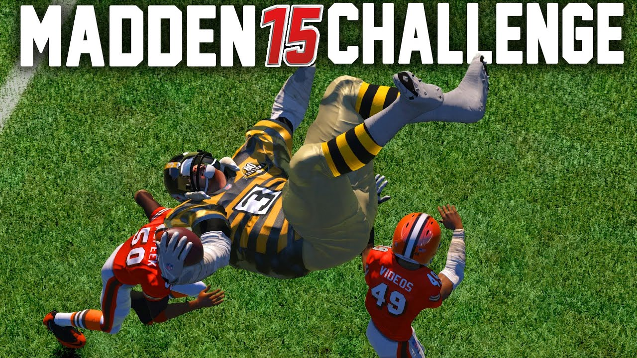 d01bc521c27 Madden NFL 15 Challenge - Can A Giant Player Hurdle A Tiny Player ...