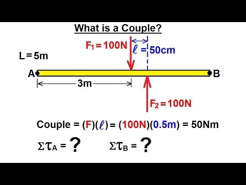 Physics - Mechanics: Ch 15 Torque (6 of 27) What is a Couple?