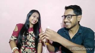 The Whisper Challenge | Husband VS Wife | Funniest Ever Challenge | Indian Girl Chumki