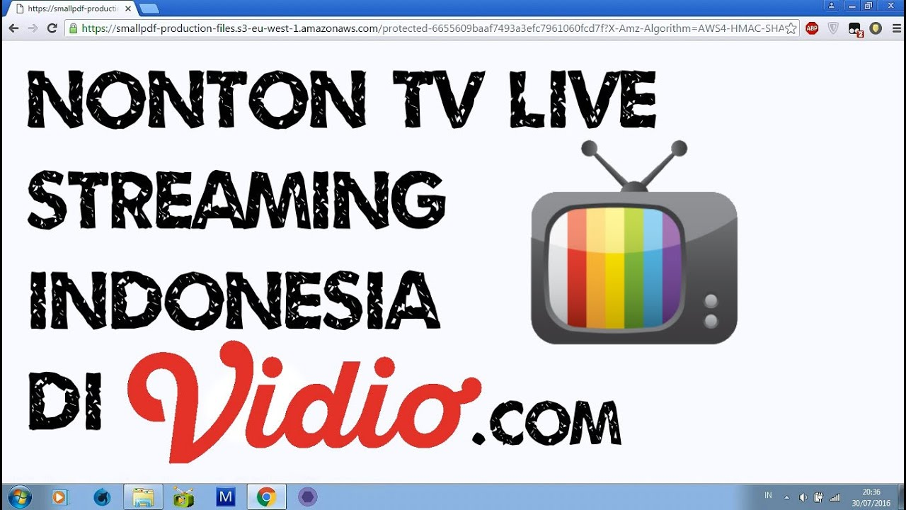 Nonton Live Streaming TV Indonesia lewat Vidio.com - YouTube