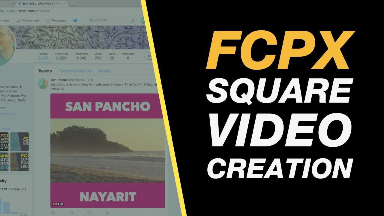 Final Cut Pro X: Square Video for Facebook & Instagram, Letter-boxed ...