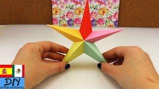Estrella de origami de 5 piezas | Estrella de 5 puntas