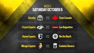 Rainbow Six Siege: LIVESTREAM Canadian Nationals Online Circuit 2 | Week 1 - Day 1 | Ubisoft [NA]
