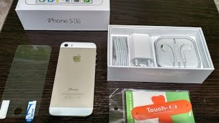 iPhone 5S Gold распаковка unboxing