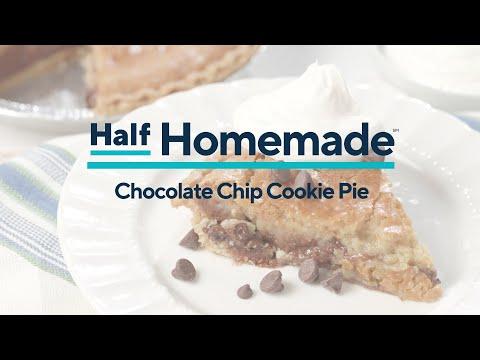 Chocolate Chip Cookie Pie | Half Homemade