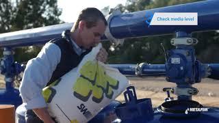 פתרון בעיות למסנן ™SandStorm   שטיפת מניפולד של מסנן חצץ / חול באמצעות זרימת מים ממוחזרים   נטפים