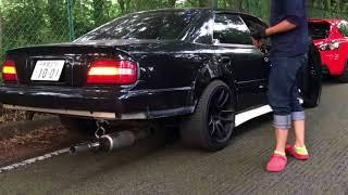 Toyota Chaser приколы с выхлопом!