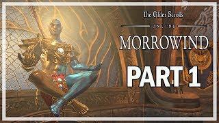 The Elder Scrolls Online Morrowind Walkthrough Part 1 Vivec - (Story Gameplay)