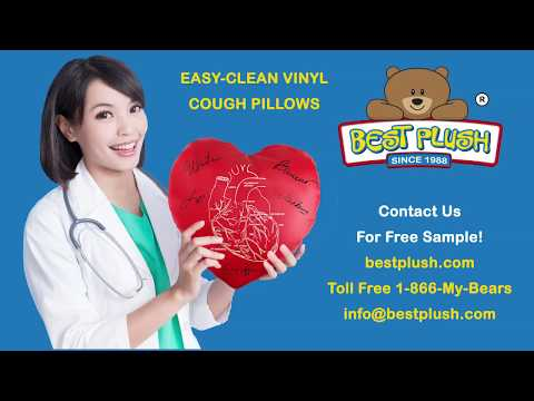 Easy Clean Vinyl Cough Pillows for Cardiology and Heart Hospitals