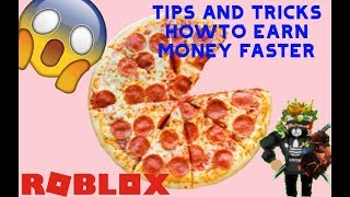 TIP UD TRICKS TO EARN FAST MONEY😱 | Work at a Pizza place | Roblox | German/german